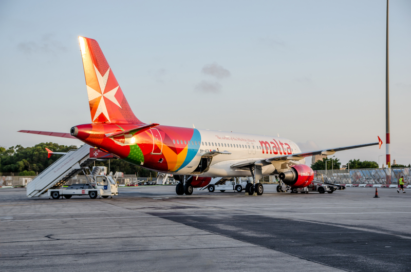 Malta Airport is a hub for Air Malta.